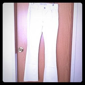 White Old Navy Boot Cut Jeans